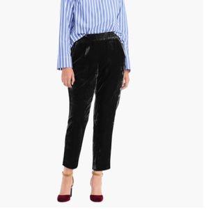 JCrew Pull-on Easy Pant Velvet NWT Size 6 Tall Blk